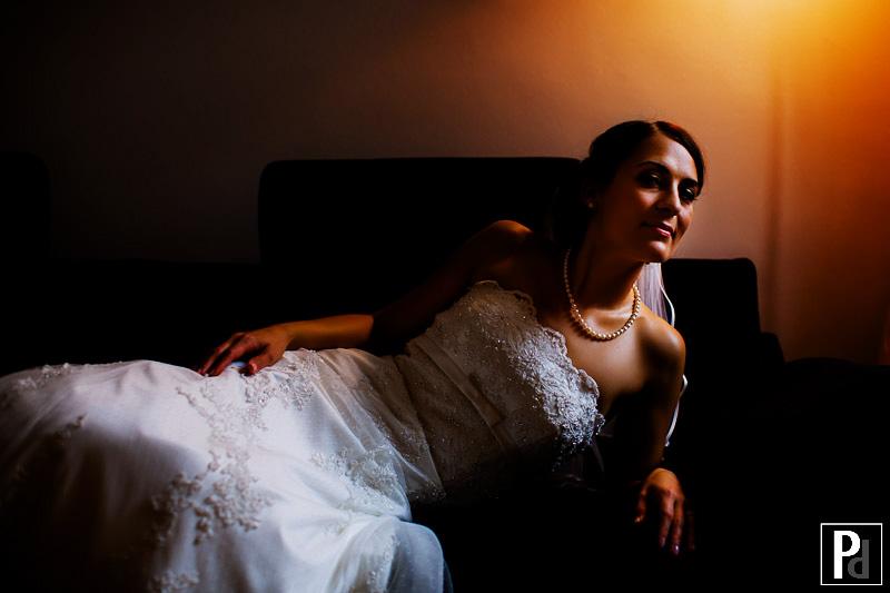 Hochzeitsreportage Haldmühle Portrait Braut