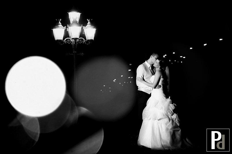 Hochzeitsfotograf Bad Homburg kreatives Nachtportrait