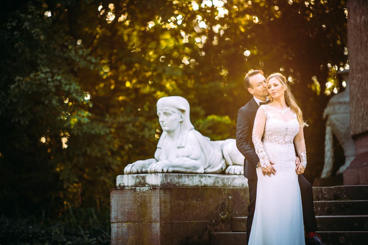 Hochzeitsportaits Schlosspark Schwetzingen
