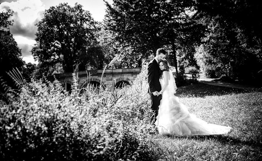 Hochzeitsfotograf Aschaffenburg Park Schönbusch Portrait Brautpaar