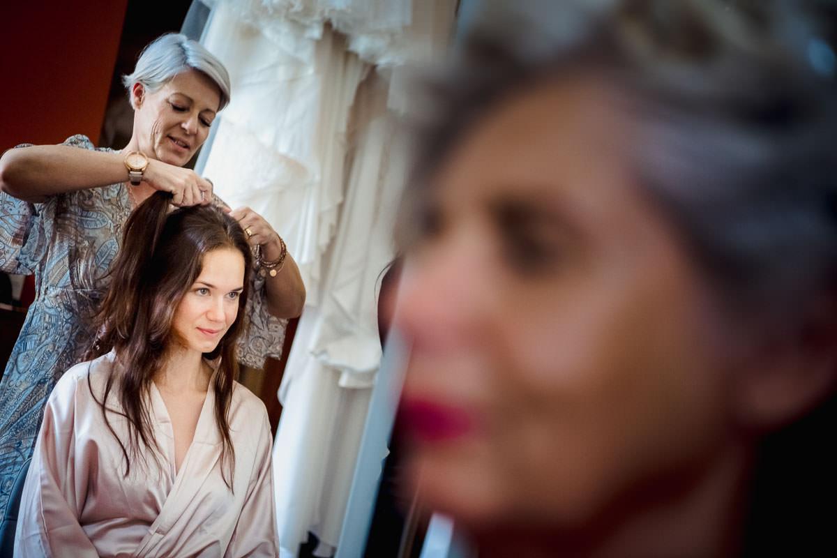 Hochzeit Schloss Romrod Brautvorbereitungen in der Hofreite