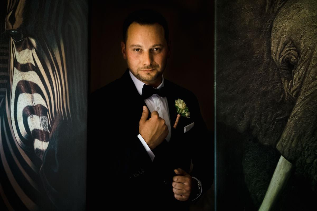 Hochzeit auf Schloss Romrod Porträt Bräutigam