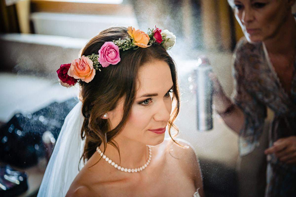 Hochzeit im Schloss Romrod Brautvorbereitungen
