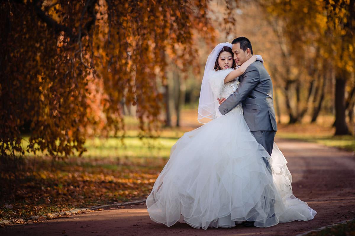 Hochzeitsfotos Herbst Rosenhöhe Darmstadt