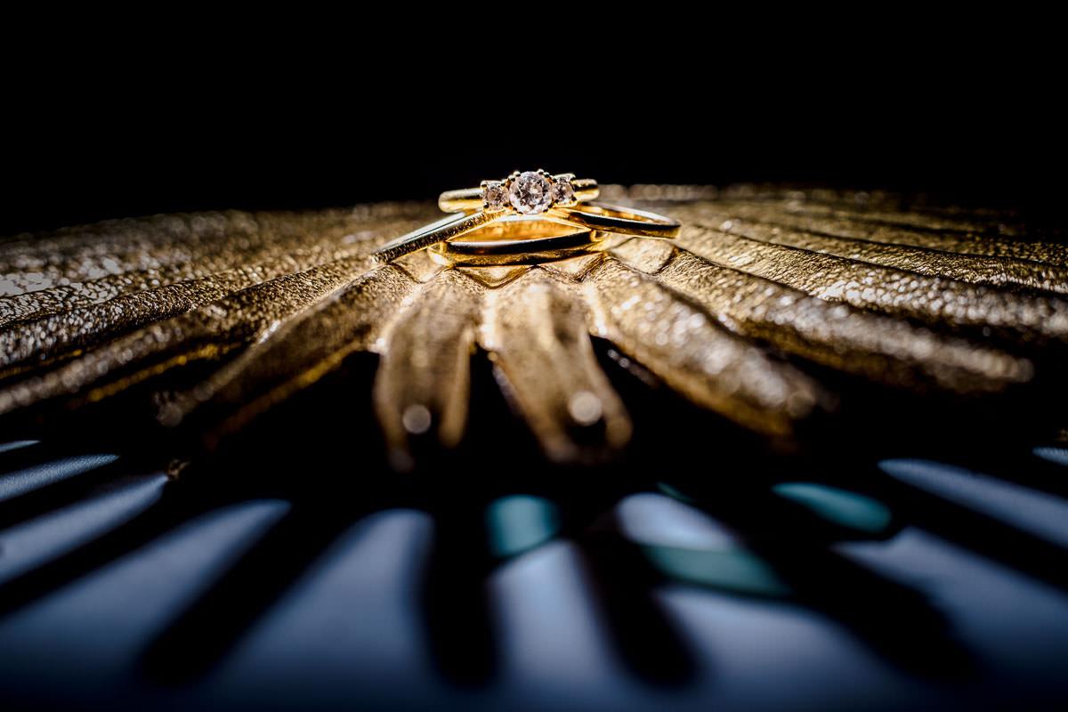 Hochzeitsfeier Gartenpavillion Juliusspital Würzburg Detail Ringe