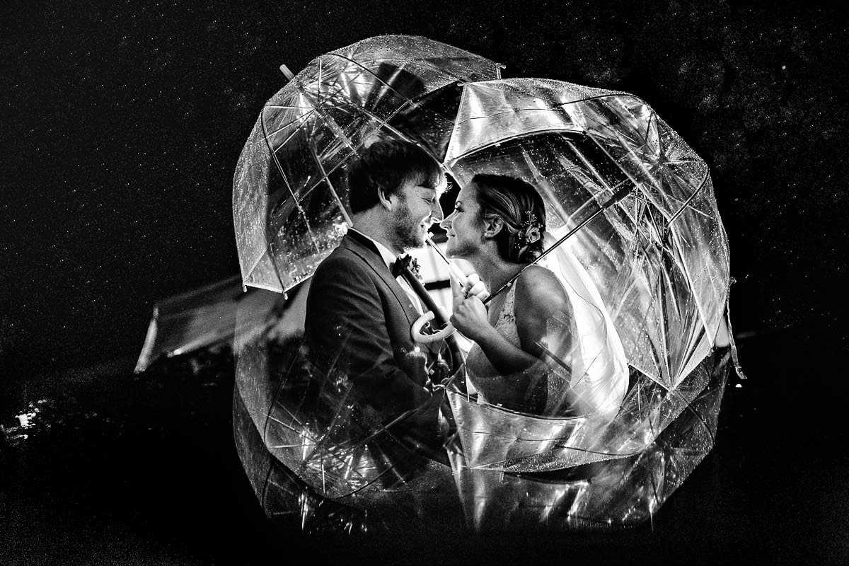 Hochzeitsbilder im Regen