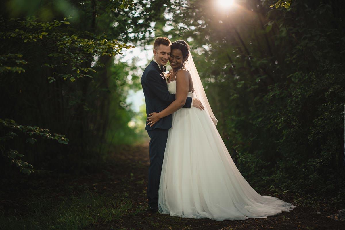 Hochzeitsbild bei Regen
