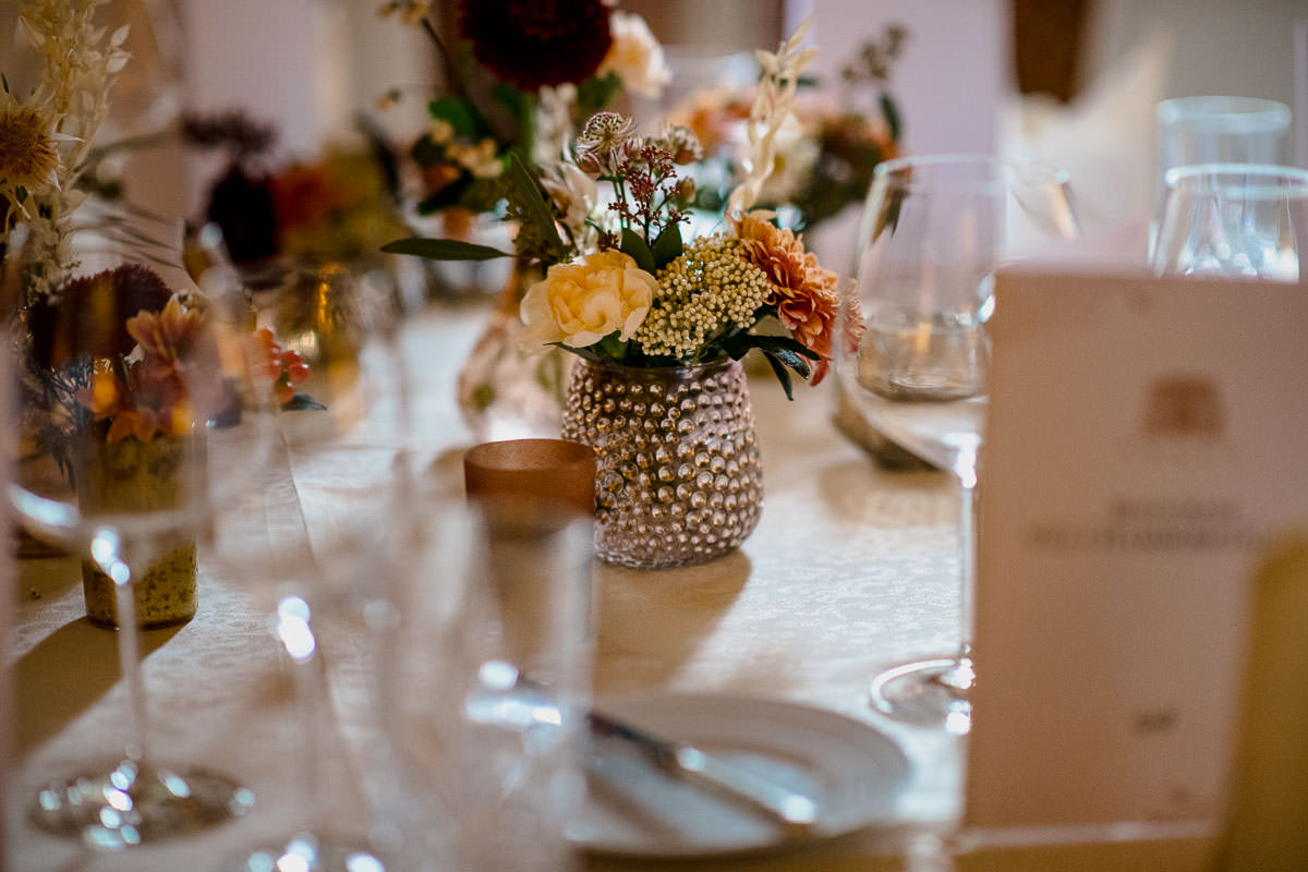 Tischdecke Villa Hammerschmiede Hochzeit